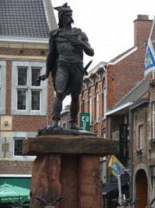 Het standbeeld van Ambiorix uit 1866